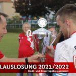 Stadt und Reservepokal 2021/2022 ausgelost